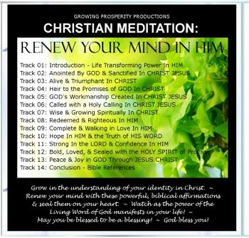 Christian Meditation: Renew Your Mind In Him CD Tracks